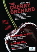 The Cherry Orchard performed by the Galleon Theatre Comapny at the Greenwich Playhouse