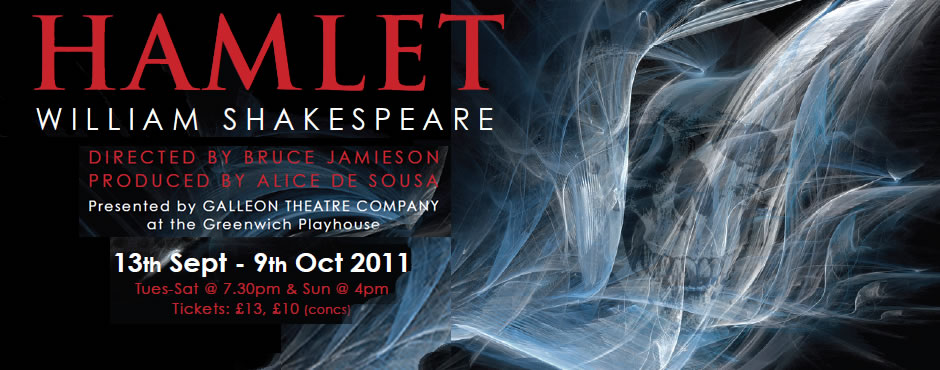 Hamlet produced by the Galleon Theatre Company at the Greenwich Playhouse